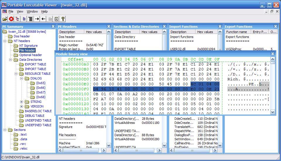 CodeDebug 32-bit/64-bit Advance PE Viewer