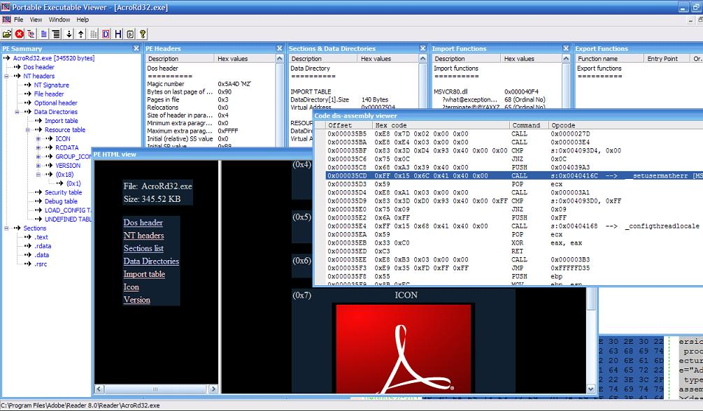 CodeDebug 32-bit/64-bit PE Disassembly Viewer